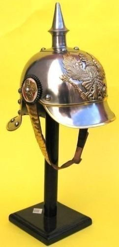 Prussian Helmet, German Pickelhaube Helmet WWI Helmet, WWII Helmet (Wwii Replica Weapons)