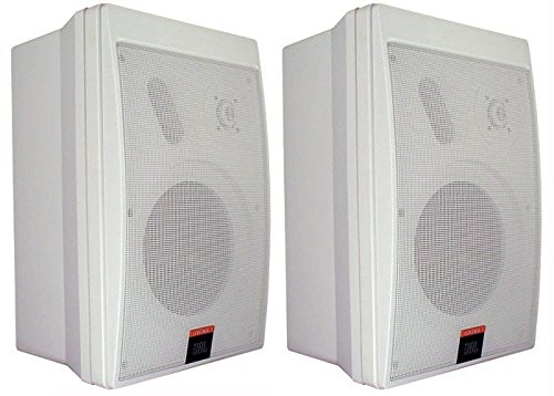 2 Way Compact Shielded Speakers (JBL Control 5 Compact Monitor Loudspeaker 2 Way, 170 Watt 4 Ohm White- PRICED AND SOLD AS A PAIR)