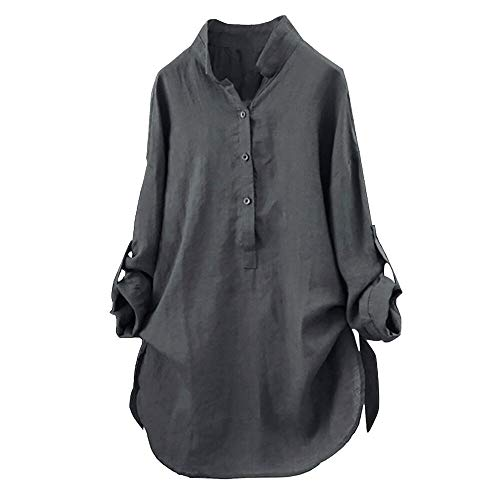 HYIRI Big Promotion Women Solid Shirt Blouse Button Down Tops