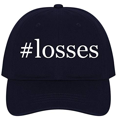 The Town Butler #Losses - A Nice Comfortable Adjustable Hashtag Dad Hat Cap, Navy