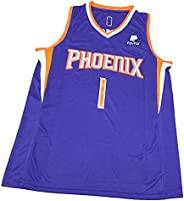 2021 1# Booker Basketball Jerseys for Men Women, Fashion Cool Embroidery Comfortable Breathable Sportswear