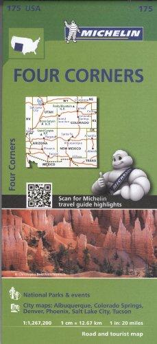 Michelin USA Four Corners Map 175 (Michelin Zoom USA Maps) Usa Four