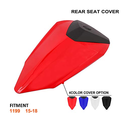 Motorcycle Red Rear Seat Cowl Passenger Pillion Fairing Tail Cover For Ducati 1199 Panigale 2015-2018