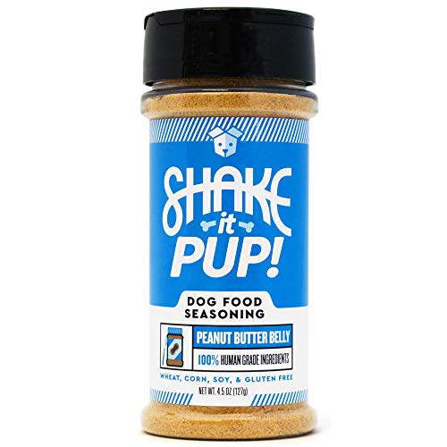 Shake it Pup! Dog Food Seasoning – Natural, Human Grade Powder Topper, Flavor Enhancer, Broth, and Gravy for Dogs Kibble or Raw, 4.5oz Bottle (Peanut Butter Belly, 1-Pack) Review