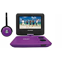 Sylvania SDVD7043-PURPBLK 7-Inch Portable DVD Player with Matching Oversize Headphones, Purple