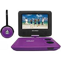Sylvania SDVD7043-PURPBLK 7-Inch Portable DVD Player with Matching Oversize Headphones (Purple)