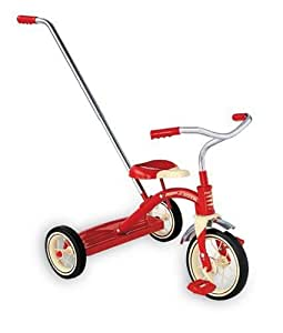 Amazon Com Radio Flyer Classic Red Tricycle With Push