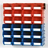 LocBin Wall Storage-12 Sm /12 Med Bins/ 26 CT