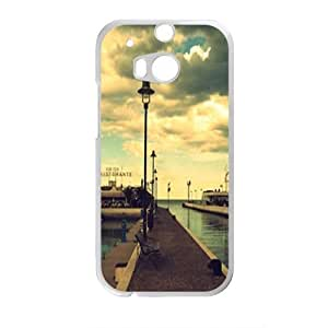 Personalized Creative Cell Phone Case For HTC M8,nightfall seaside road