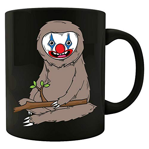 Sloth Wearing Scary Clown Makeup Cute Halloween Spooky Graphic Art Gift - -