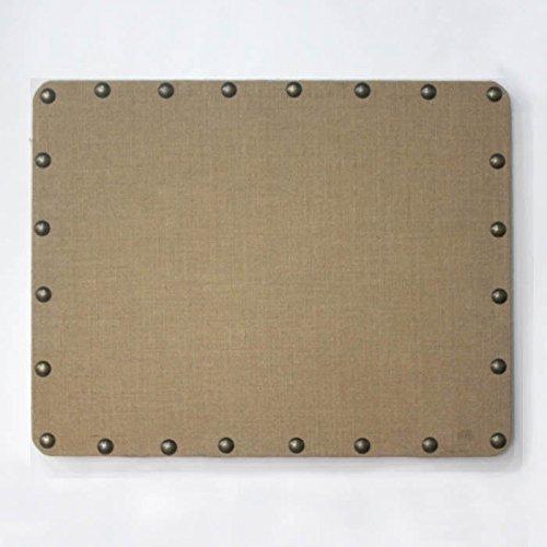 Linon Burlap Nailhead Corkboard, Small