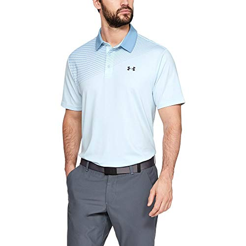 Under Armour Men's Playoff Golf Polo 2.0, Code Blue//Pitch Gray,