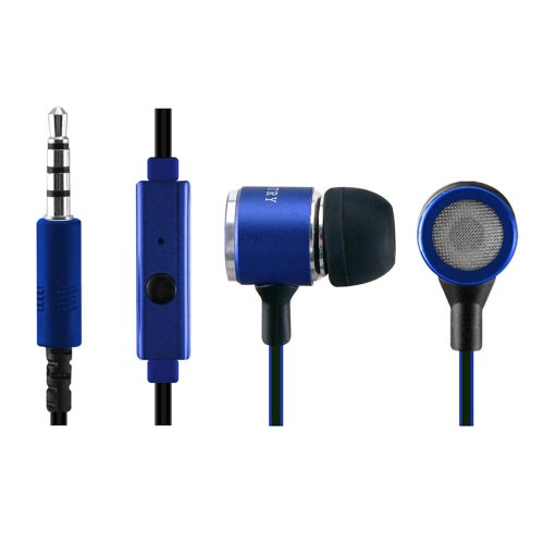 Sentry Industries Inc. HM322 Metal Talk-Buds Ear Buds with Mic, Blue