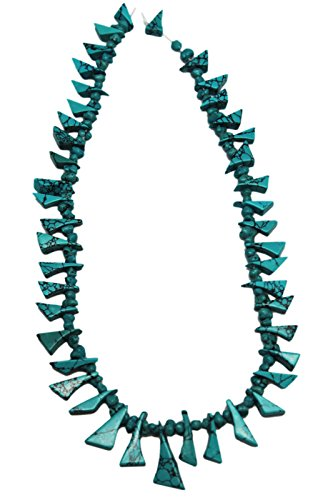 Triangle Wedge & Nugget Turquoise Bead Strand With Black Matrix (130 ()