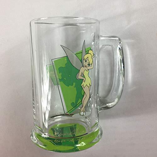 Tinker Bell Glass Stein Mug Cup Disney Land Resort Park Gift Drink Peter Pan -