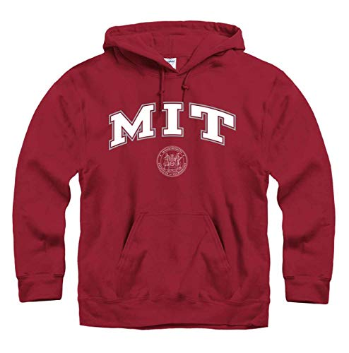 Campus Colors MIT Engineers Arch & Logo Gameday Hooded Sweatshirt - Cardinal, Small