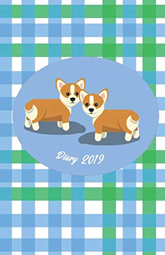 - Diary 2019: Corgi in Gingham Style - Monthly and Weekly Planner 2019 (also Dec 2018) with yearly overviews, monthly calendars and weekly 2-page horizontal layout, notes, lists (Monday start week)