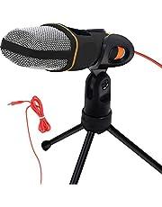SEASKY Micrófono Condensador Semiprofesional con Tripié, Micrófono Condensador,Microfono con Soporte para PC,Ideal para Videoconferencias, Podcasts, Videoblogs y más
