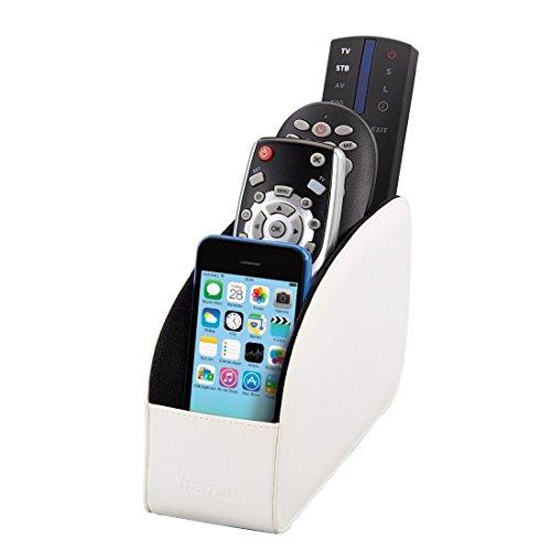 Hama Major Fernbedienungshalter (Organizer für Brillen, Smartphones, Controller, USB Sticks, bis zu 4 Fernbedienungen) weiß
