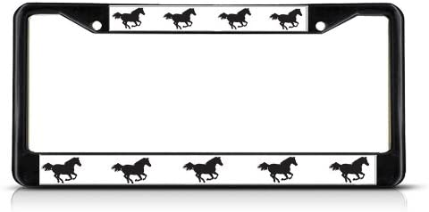 Fastasticdeals Horses On Move Animal License Plate Frame Tag Holder Cover