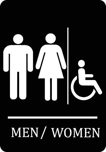 Family Handicap Accessible Bathroom Black Sign - Aluminum Metal -