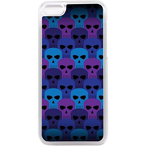 iPhone 5C Handy Schutzhülle Totenkopf Muster Emo Punk Ska Tatoo Art