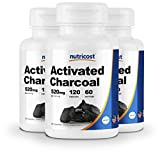Nutricost Activated Charcoal 120 Capsules (3 Bottles) - High Quality Activated Charcoal Powder, Non-GMO & Gluten Free