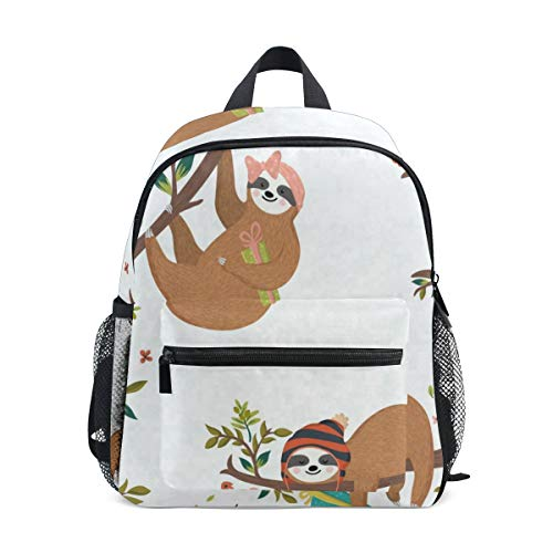 (Mini Backpack Sloth Holding Presents School Bag Daypack Lightweight Small)