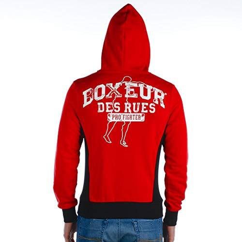 Rosso Elasticizzati Boxeur Rues E Inserti Des Con Uomo Felpa Cappuccio n4F4WzCqw