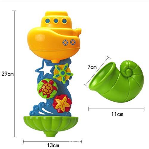 - Submarine Bath Toy Waterwheel Shower Bathtub Wheel Toys Baby Kids Water Spraying Tool Summer Pool Water Game
