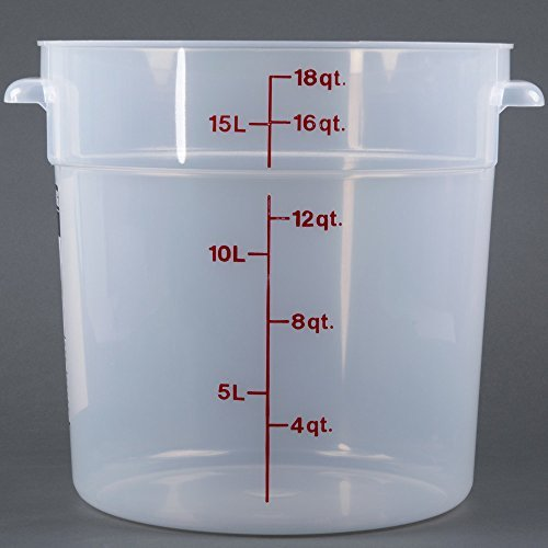 Cambro (RFS18PP190) 18 qt Round Polypropylene Food Storage Container - Camwear