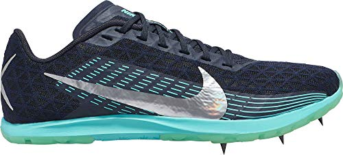 Nike Zoom Xc - Nike Women's Zoom Rival XC 2019 Cross Country Shoes (8, Obsidian/Metallic Silver)