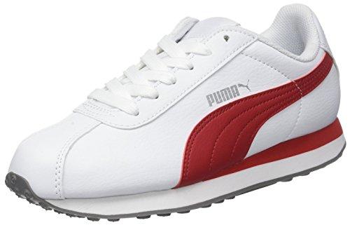 Puma Adultes Mixte Turin Bas En Haut, Blanche (white-puma Barbados Cherry 15)