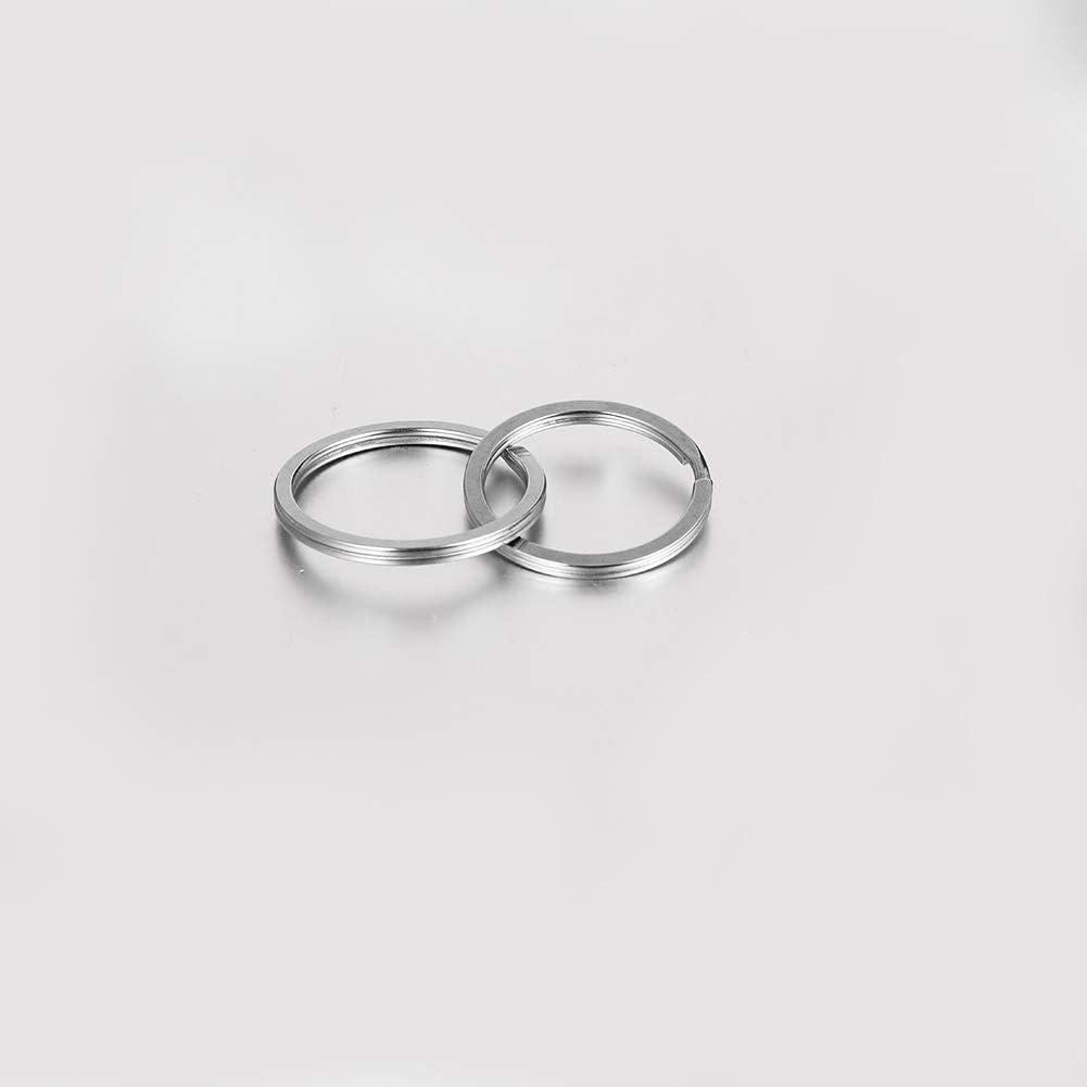 angelikashalala 60 Pieces Key Ring Hoop Stainless Steel Flat Split Ring 6 Different Sizes Keyrings for Home Car Key Organization