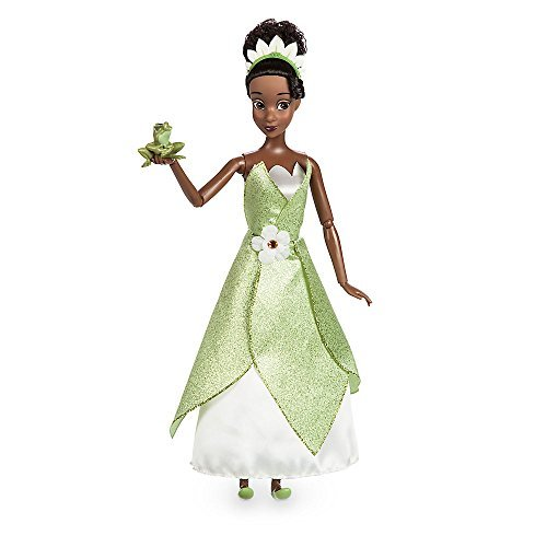 Disney Tiana Classic Doll with Prince Naveen as Frog Figure - 11 1/2 Inch ()