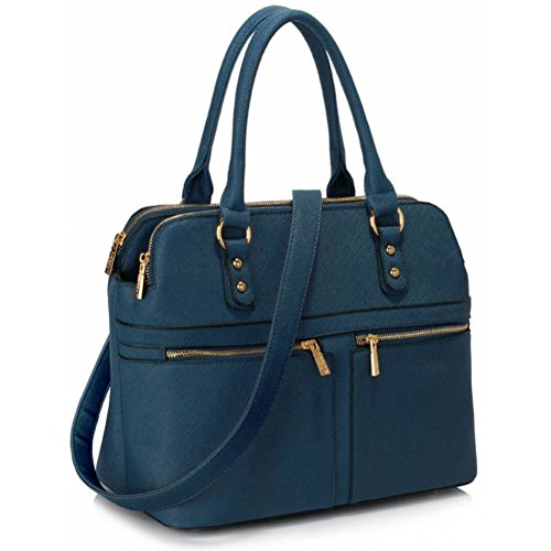Style Tote Handbags Compartments Bags Women's LeahWard Bag Large Navy Nice Celeb 3 250 B6UqnwpI5p