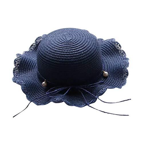 Women Wide Brim Straw Panama Roll up Hat Fedora Beach Sun Straw hat UPF68+ /Casual Holiday Fisherman's Cap ()