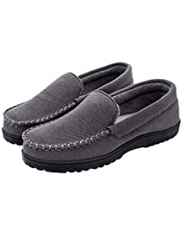 Cozy Niche Men's & Women's Cozy Memory Foam Slippers Moccasin Anti-Skid Indoor Outdoor House Shoes