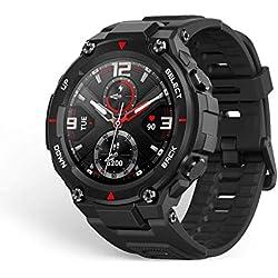 Amazfit T-Rex Smartwatch Pulsera Inteligente Reloj Deportativo Monitor de Sueño Notificación Llamada y Mensaje 5ATM GPS Diseño Resitente Ambiente para Andriod y iOS