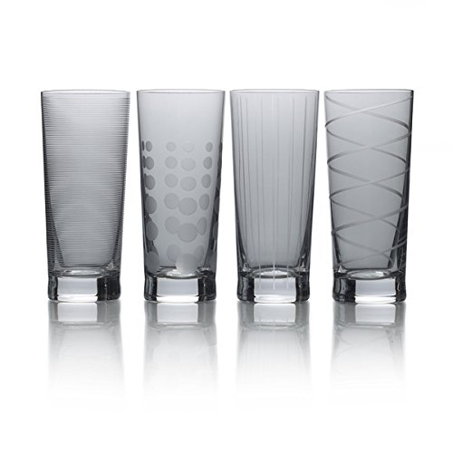 (Cheers Smoke 19.75oz Highball Set Of 4 Drinking Glass Boxed)