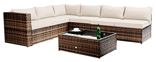 Better Garden Furniture Sectional Sofa Better Garden Furniture 5-Seater, Two Tone Grey (Cheap Patio Sets)
