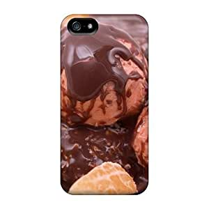 For Iphone 5/5s Protector Case Ice Cream With Mandarin And Chocolate Phone Cover hjbrhga1544