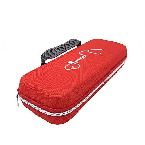 Carry Case for 3M Littmann Lightweight II S.E. 3M Littmann Classic III 5870 Classic III Stethoscope Travel Bag,Extra Room for Taylor Percussion Reflex Hammer and Reusable LED Penlight (Red)