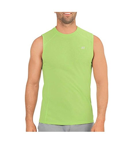 - Russell Athletic Dri-Power 360 Men's Performance Sleeveless Muscle Tee, Lime Punch, L