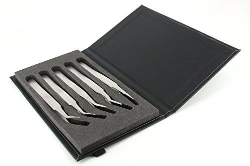 Kit Of 5 SMD Tweezers by IDEAL-TEK AA ANTI HI TECH