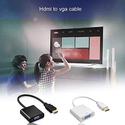 Noir Ordinaire Hdmi /à Vga 1080P Hdmi M/âle /à Vga Femelle Convertisseur Vid/éo Adaptateur C/âble pour PC Portable HDTV Projecteurs Et Autres Hdmi