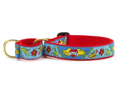 "Up Country ""Mom"" Tattoo Martingale Dog Collar - X-Large"