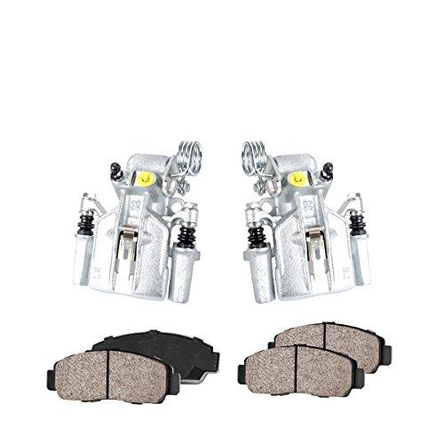 CCK11538 [2] REAR Premium Loaded OE Caliper Assembly Set + Quiet Low Dust Ceramic Brake Pads [ SN95 ]