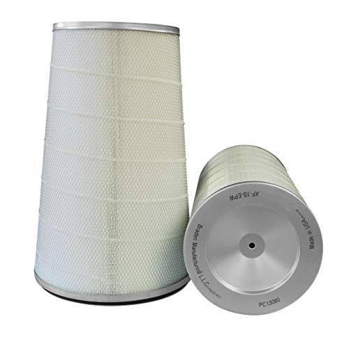 Dust Collector Filter. Height: 26″ OD: 12.75″ ID: 8.375″ / Cellulose Polyester Blend, Open-Closed pans 0.540 BH