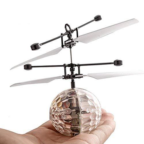 Mallalah Kids Magic Electric Flying Ball LED Intermitente luz Aviones helic/óptero inducci/ón Juguete